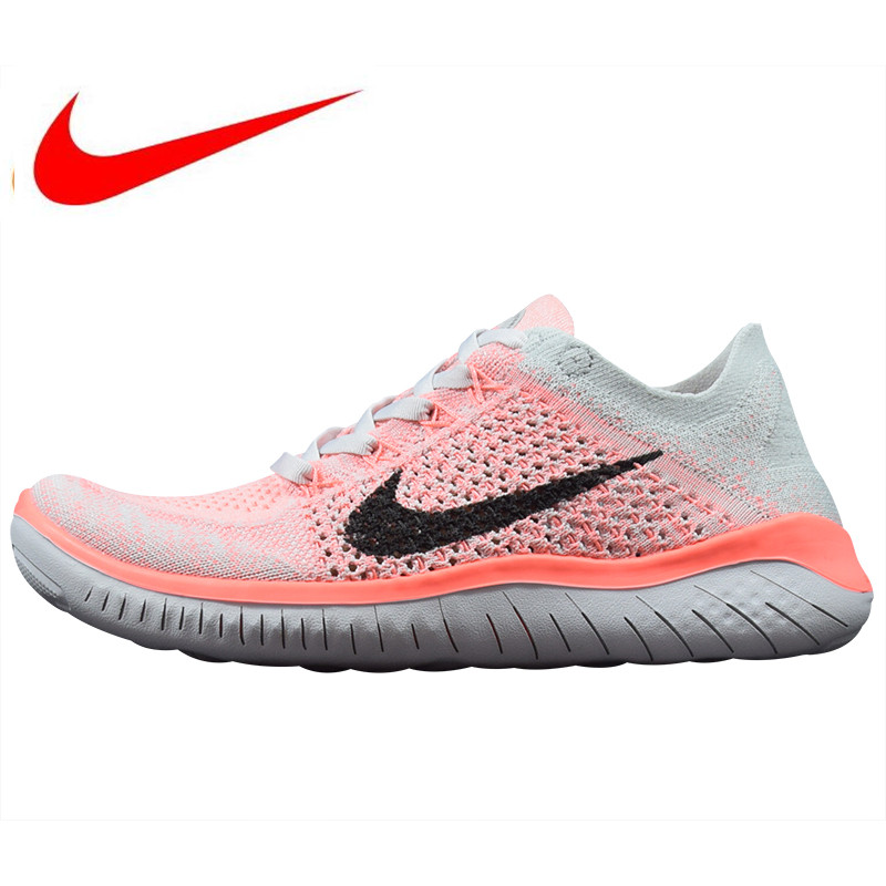 the best attitude e5b9f f3875 US $60.66 30% OFF|Nike Free Rn Flyknit 5.0 Women's Running Shoes,Black,Non  slip Lightweight Breathable,Outdoor Sneakers Shoes Size40 44-in Running ...