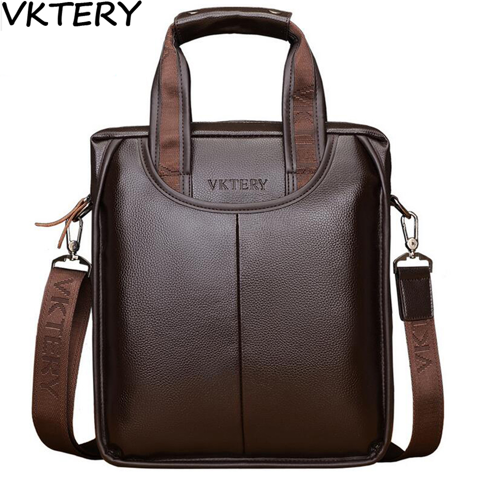 2017VKTERY Brand PU Leather Men Bags Fashion Male Messenger Bags Men's Small Briefcase Man Casual Crossbody Shoulder Handbag the law of god an introduction to orthodox christianity на английском языке