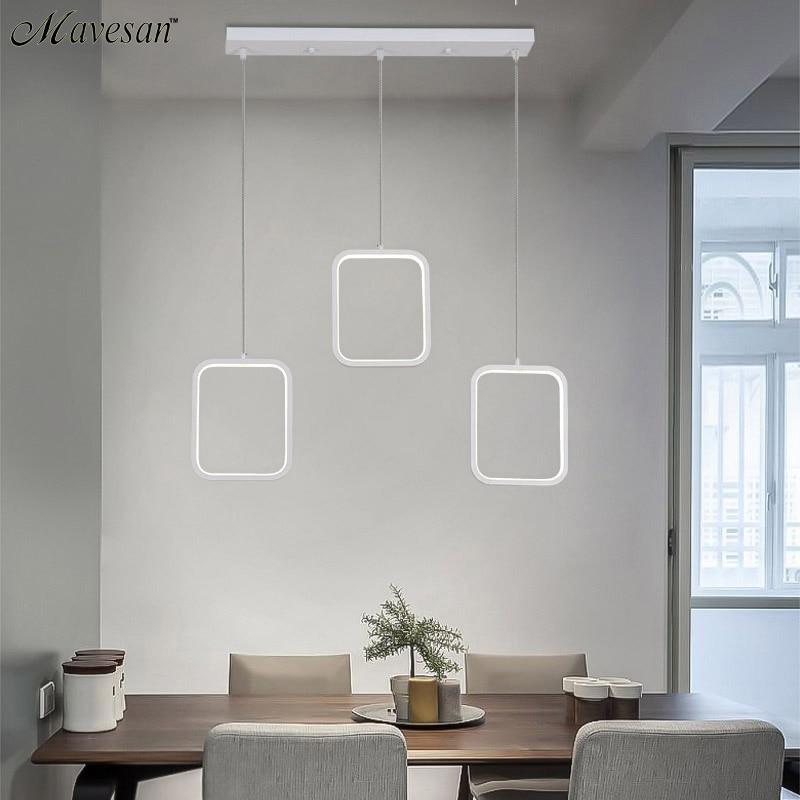 Креативные светодио дный подвесные светильники светодиодные Современные Coffe бар акрил + металлическая подвеска подвесной потолочный свети