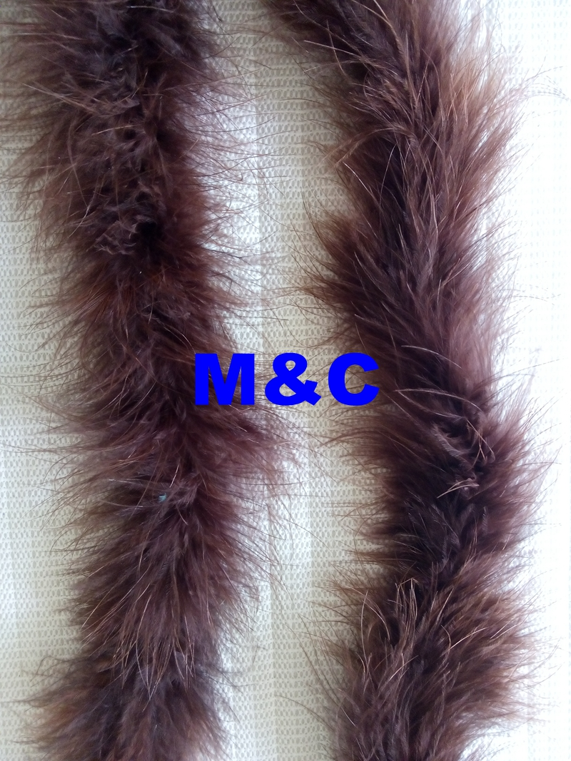 Free Shipping 5pcs brown color marabou feather boa 2 meter long per pc chicken feather fringes