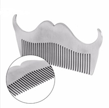 1 Pc Mens Mustache Cutting Modeling Model Carding Stainless Steel Tool Comb Beard Forming Tool