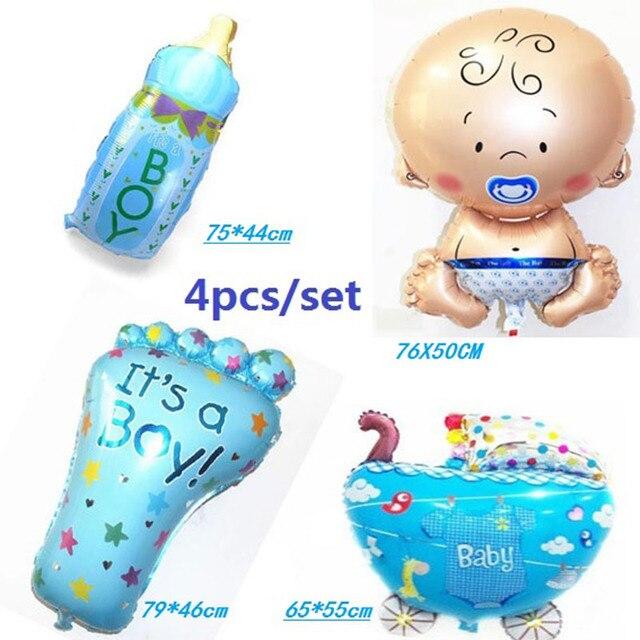 Hot 4pcs/set air balloon baby boy/girl balloon helium ballons for baby birthday party decoration globos de festa mylar ball