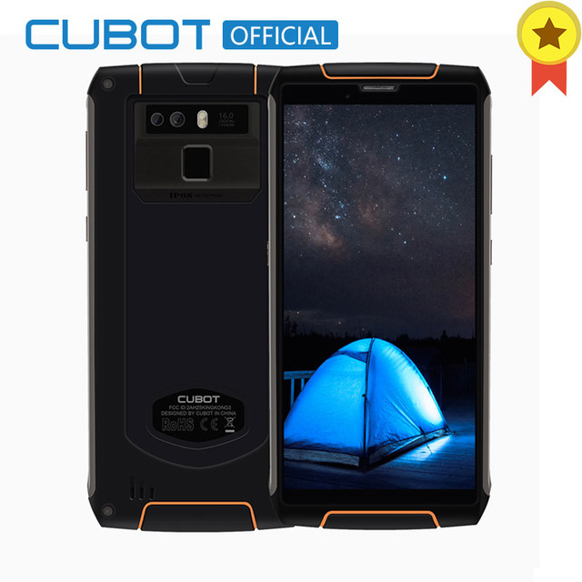 Cubot King Kong 3 IP68 Waterproof Smartphone Android 8.1 4GB 64GB MT6763T Octa Core Cellular 5.5''18:9 6000mAh Fast Charge 16MP