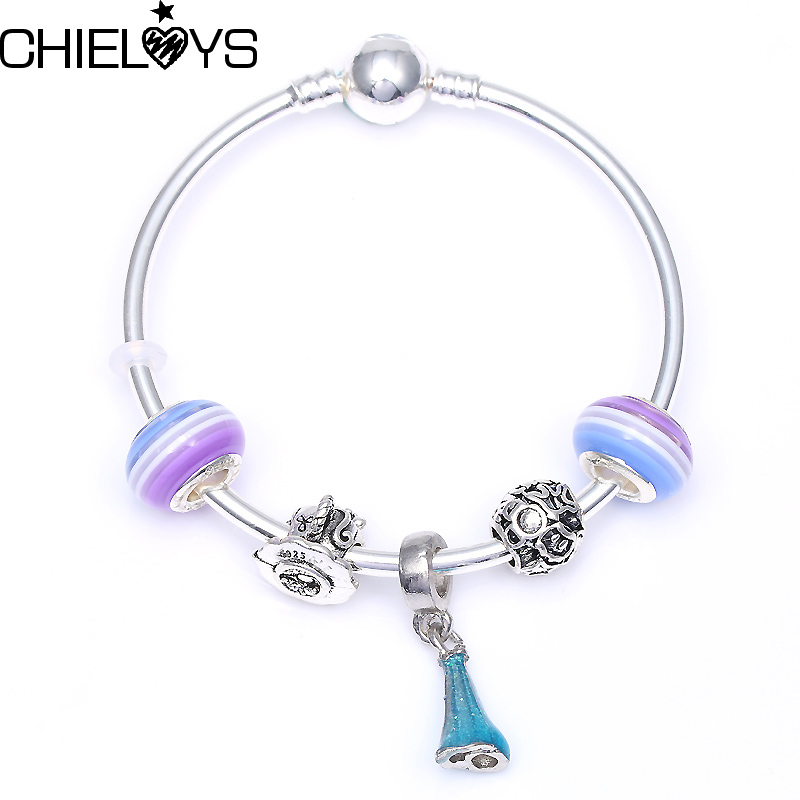 CHIELOYS European Charms Jewelry Mickey Bead Charm Bracelets Fits Pandora Pandora Bracelets & Bangles For Women Jewelry BE044