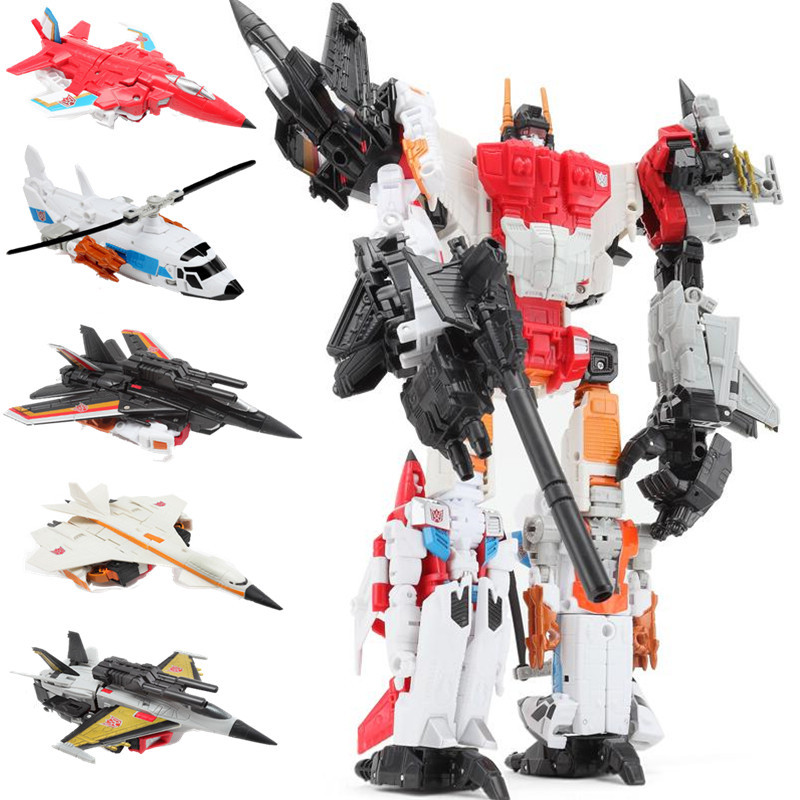 HaiZhiXing Movie 5 IN 1 Transformation Toys boy Oversize Devastator Robot Anime Action Figure Aircraft Motorcycle
