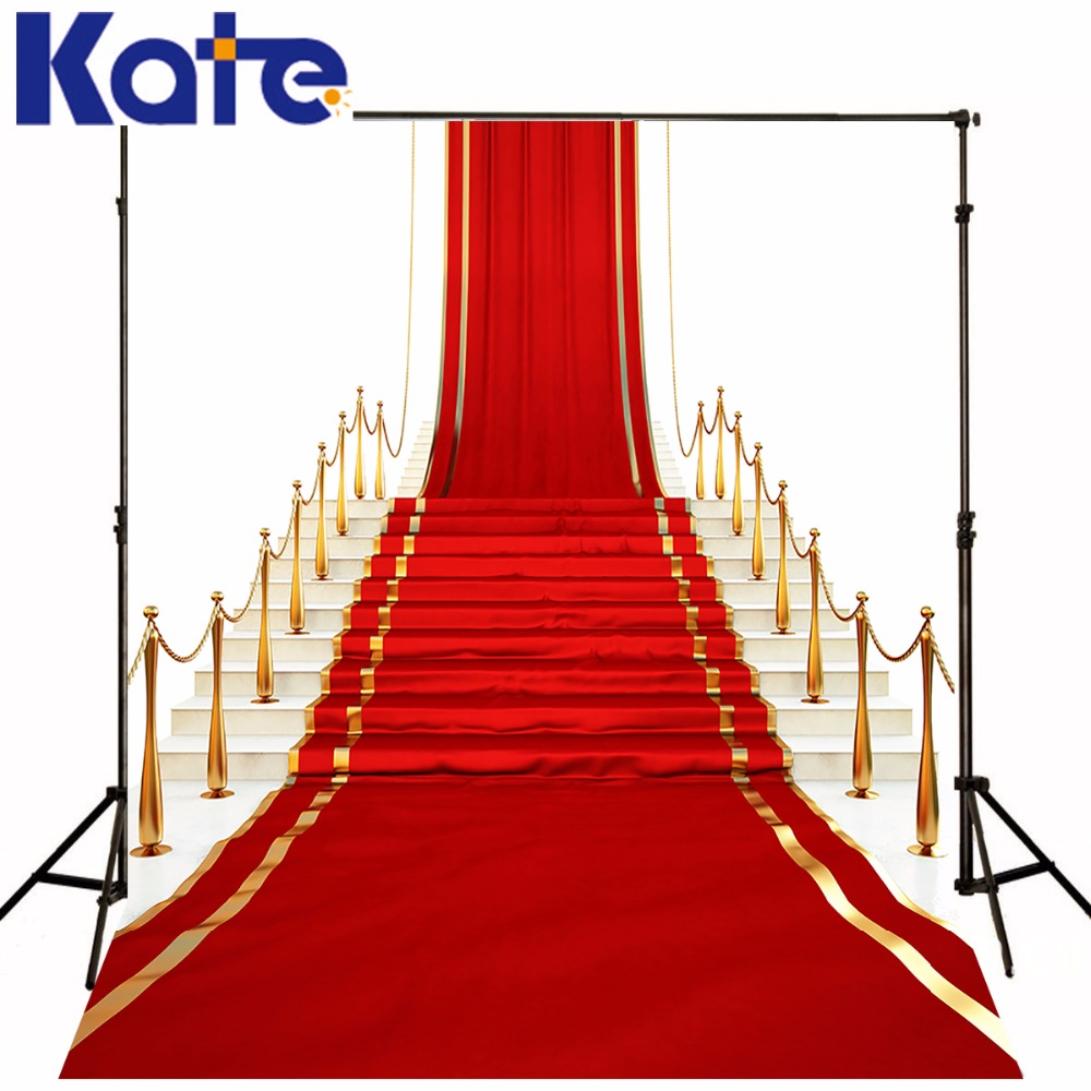 KATE 10X10FT Red Stage Photo Background Photography Backdrop Carpet Aperture Backgrounds For Photo Studio Wedding Backdrop