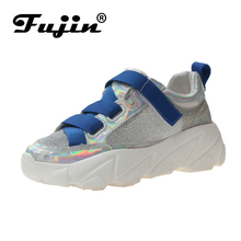 Fujin Women Sneakers Shoes 2019 Fashion Hook Loop Mesh Breathable Patchwork Dropshipping Causal Platform Summer