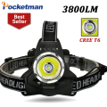 Led Headlight 3800Lm Xm-L T6 Headlamp Flashlight Linterna Fishing Camping Hiking Cycling Climb Water resistant Headlamp ZK93