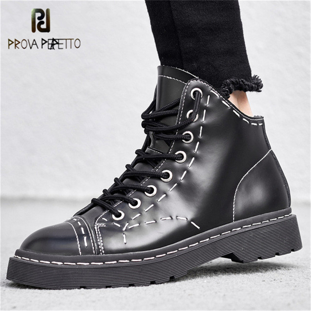 Prova Perfetto Fashion Woman Ankle Boots Lace Up High Top Casual Shoe Laces Boots For Female Round Toe Platform Thick Sole Shoes все цены