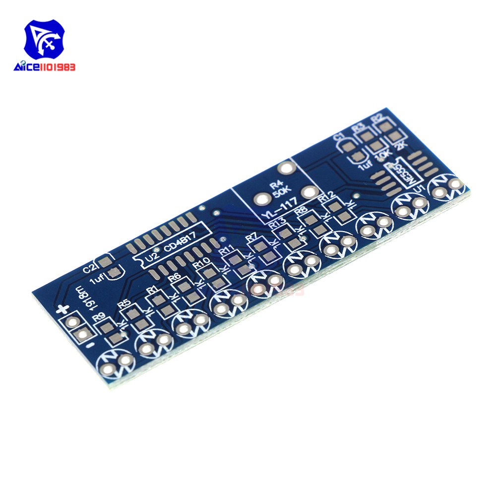Active Components Integrated Circuits Ne555 Cd4017 Ne555 Driver Water Powered Board Circuit Water Flowing Light Led Electronic Module Diy Kit Running Light Drive Special Summer Sale