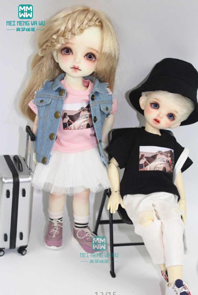 БЖД куклы одежда подходит 27 см-30 см 1/6 BJD куклы Модная Джинсовая куртка Футболка кукла обувь