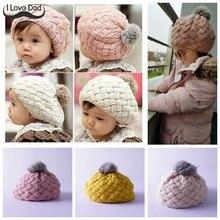 f544448f Winter Spring Baby Hat Cute Pompom Knit Baby Girl Hat Baby Bonnet Cap  Beanie Girls Boy Beret Cap Knitted Kids Hats Bonnets Muts