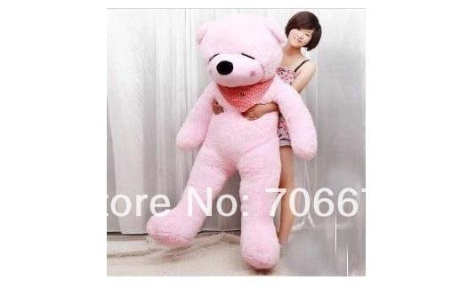 ФОТО New stuffed pink squint-eyes teddy bear Plush 120 cm Doll 47 inch Toy gift wb8602
