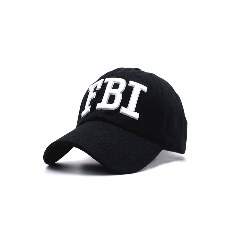 2018 High quality Wholesale Retail Men and women Hat & Cap FBI Fashion Leisure embroidery CAPS Unisex Baseball Cap