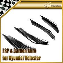 Автомобиль стайлинг Для Hyundai Veloster Turbo Только Углеродного Волокна Переднего Бампера Canard 4 шт.