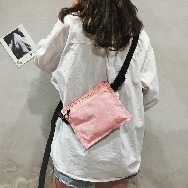 Women Waist Bag Belt Bag fanny pack bags for women 2018 Chest Bag Letter Printing Phone Pouch Purse in Waist Packs from Luggage Bags