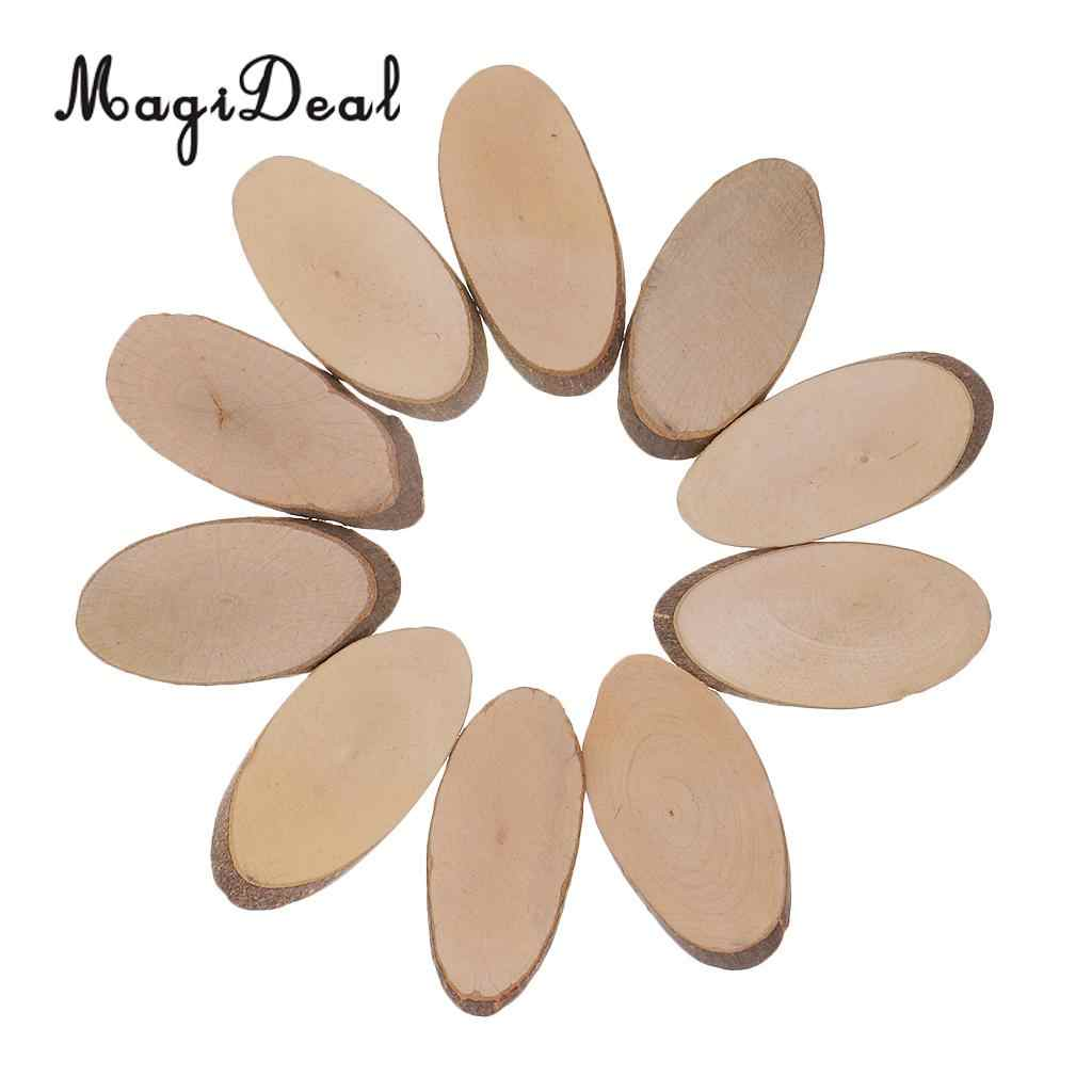 Detail Feedback Questions About 10pcs Oval Shape Wood Slices Diy