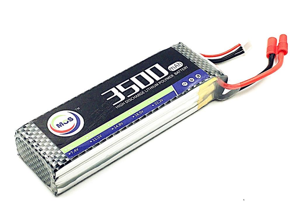 MOS RC Lipo battery 3S 11.1v 3500mAh 40C For RC Airplane Drone Car Boat Li-ion Batteria AKKU 2pcs package mos 3s lipo battery 11 1v 1300mah 35c for rc airplane free shipping