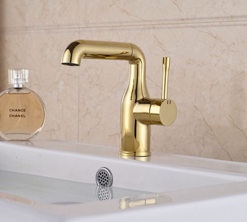 Golden Brass Euro Style New Pattern  Bathroom Basin Faucet Mixer Tap a033 olive branch style brass bookmark golden