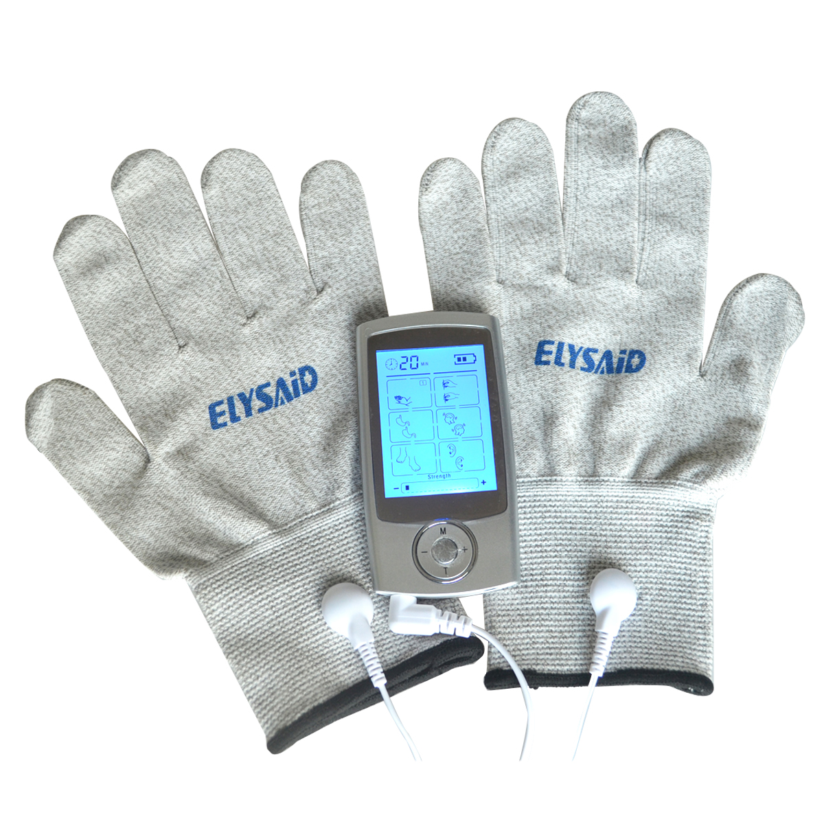 Health Care TENs Massager Digital Therapy Machine Muscle Stimulator+1Pair Hands Care Conductive Electrode Fiber Silve Gloves health care tens acupuncture electric therapy massageador electric digital massager with fiber electrode massage gloves