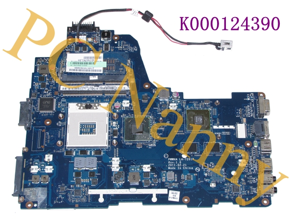 For Toshiba Satellite C660 Laptop Motherboard s989 hm65 Non-Integrated - K000124390 PWWHA LA-7201P tested