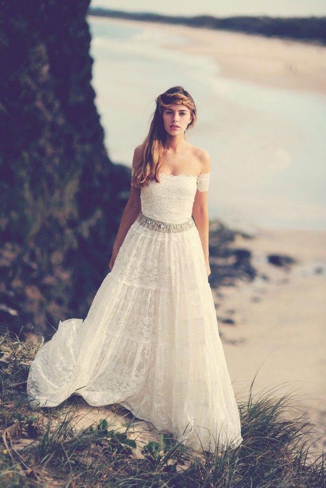 Vintage Bohemian Wedding Dresses 1970s Hippie Bohemian Bridal Gowns ...