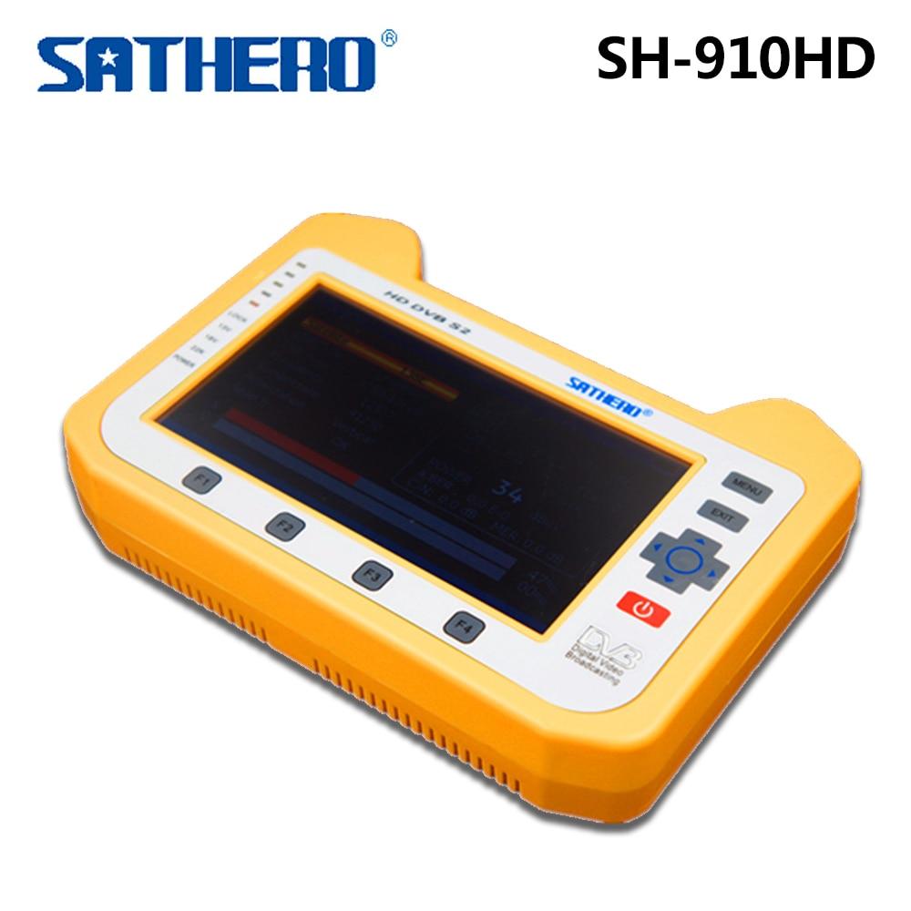 Sathero SH-910HD TV Receiver DVB-S/S2 Satellite Digital Meter Real time Spectrum analyzer Signal Finder dvb s2 sathero sh 900hd satellite meter finder cctv in hd spectrum analyzer coaxial digital monitoring test function vs sh 910
