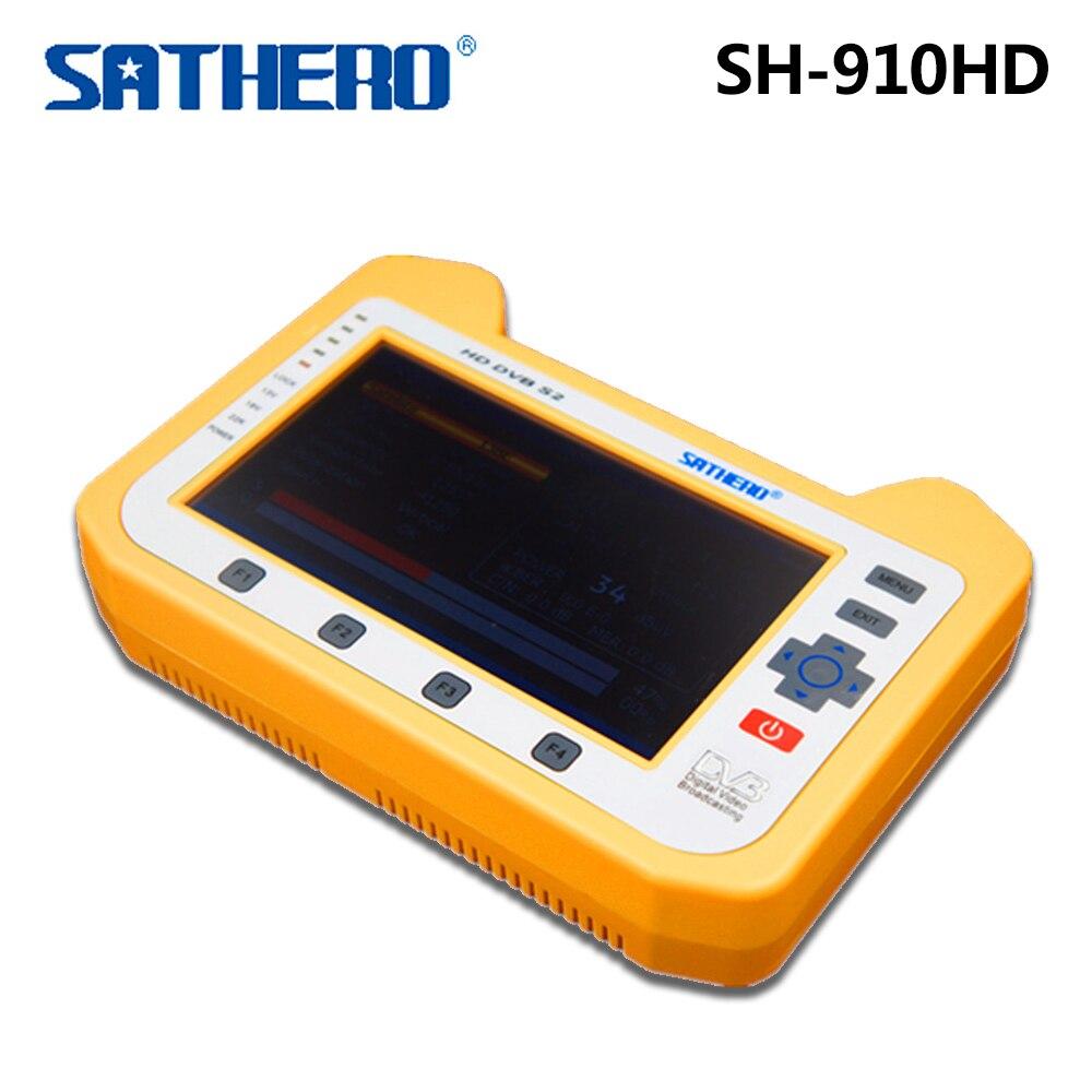 Sathero SH 910HD TV Receiver DVB S/S2 Satellite Digital Meter Real time Spectrum analyzer Signal Finder