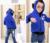 El nuevo 2016 la edición de han de moda de manga larga chaqueta del Bebé del muchacho niños auriculares del color del caramelo de la chaqueta con capucha