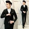 (Casacos + Calça + Colete) novo 2016 dos homens marca de moda pura cor Festa de Casamento ternos Smoking/high-grade dos homens terno formal do negócio