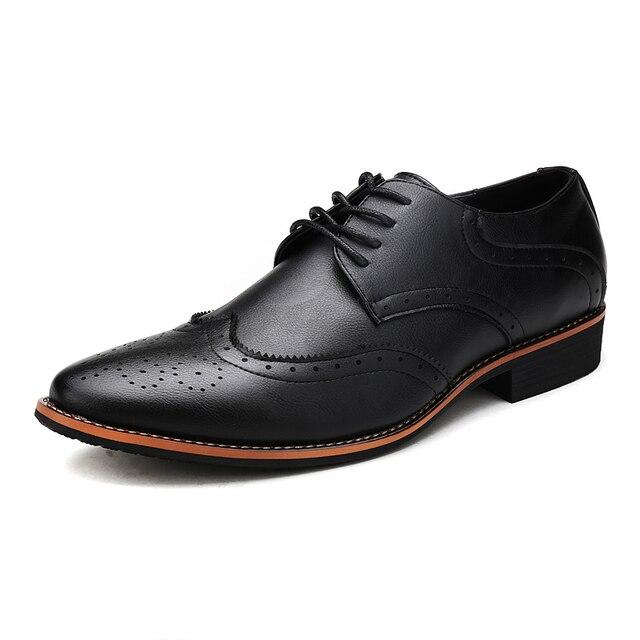 Новых людей способа оксфорды из натуральной кожи на шнуровке башмаки бизнес свадебное платье квартиры острым носом обувь размер: 38-44 Yjn-355