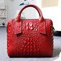 2017 new women bag genuine leather handbag ladies crocodile pattern handbags fashion real leather tote bag