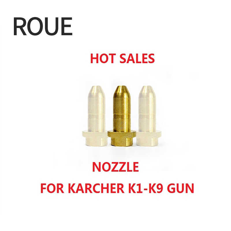 ROUE Messing Adapter Nozzle Karcher Gun Nozzle vervanging nozzle voor karcher pistool Messing mondstuk (MOEP010)