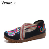 Veowalk Big Size 34 42 Fashion Spring Women S Shoes Chinese Casual Flats For Women Flower