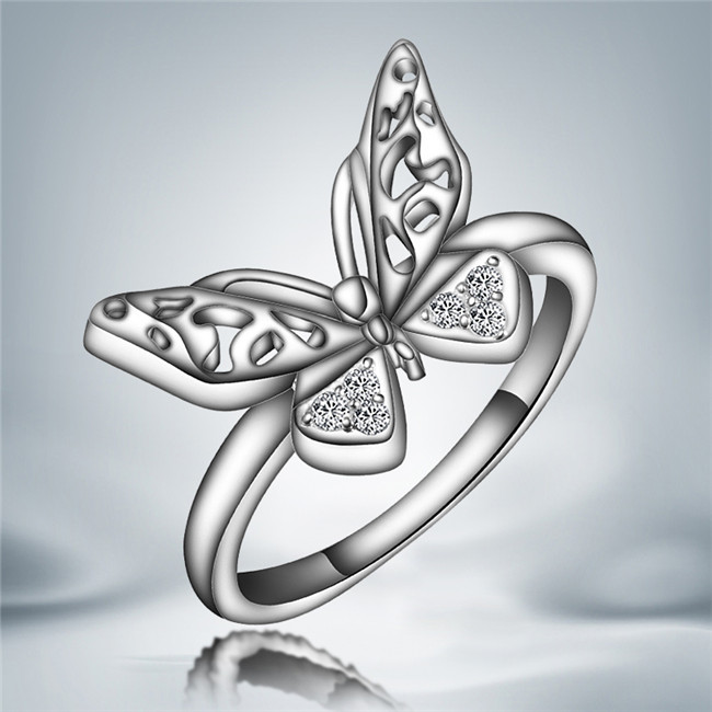 Engagement-Rings Jewelry Crystals Wedding Women New-Fashion Cute with Austrian for Classic