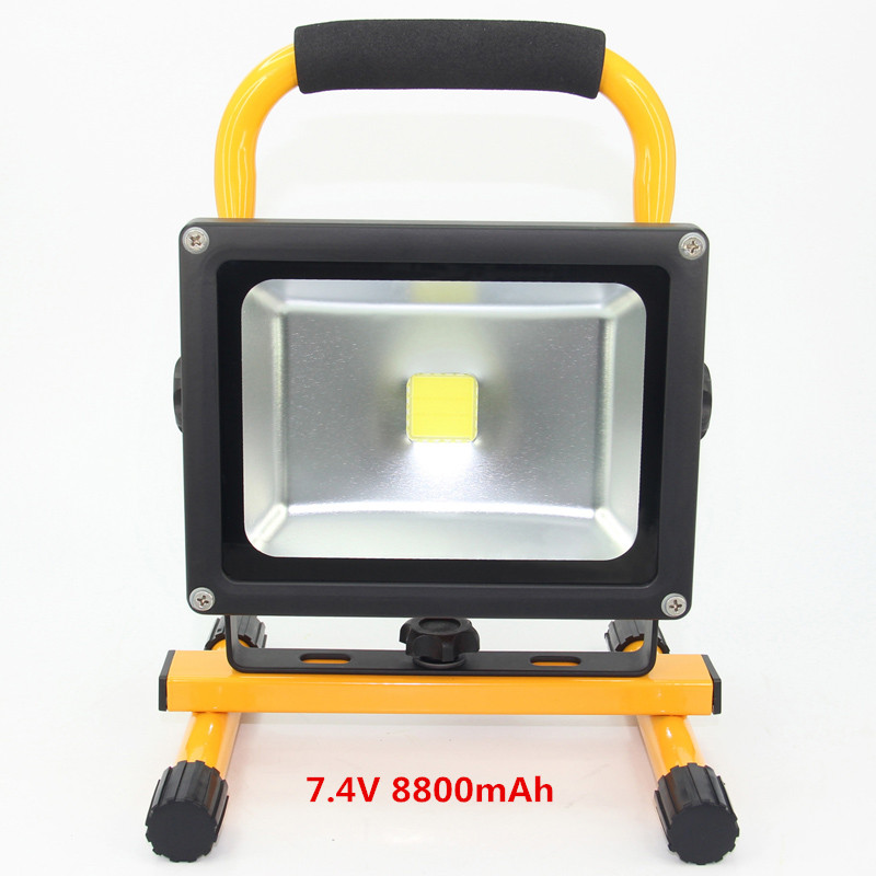 Led floodlight Spotlight 20W Waterproof eclairage exterieur Outdoor Camping Lights Work Light Built-in Rechargeable battery 1pcs portable 20w rechargeable led floodlight ac 85 265v waterproof emergency light camping outdoor lighting lamps
