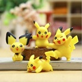 4pcs New style Japanese anime Pikaqiu Mini Action Figures Doll Collections Toys for Kids gift