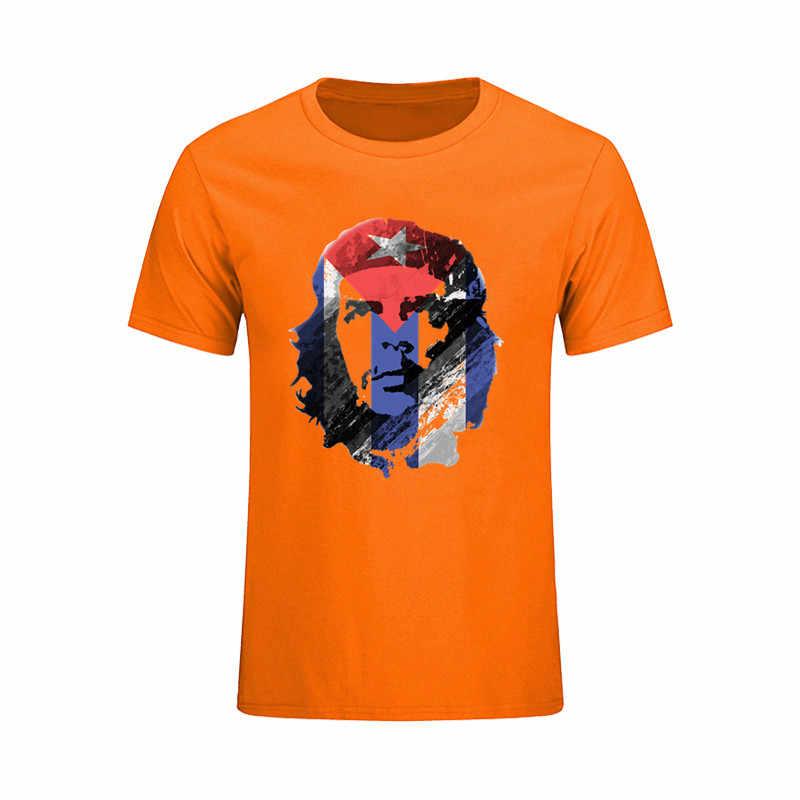 Негабаритных забавные Для мужчин футболка Че Гевара Куба флаг Лидер продаж Camisetas Топы корректирующие 2017 Джокер Geek Супермен CHEMISE Homme футболка мужской