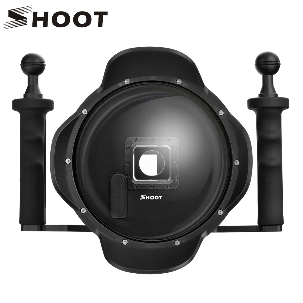 SHOOT 6 inch Dome Port for GoPro Hero 4 3+ Action Camera with Handheld Steadicam Waterproof Case for Go Pro Hero 4 3 Accessories цена и фото