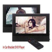 זוג של משענות ראש לרכב נגני DVD מושב אחורי כפולה Twin מציג מסכי HD מסך רחב 8 inch, USB/SD קורא, משדר FM/IR