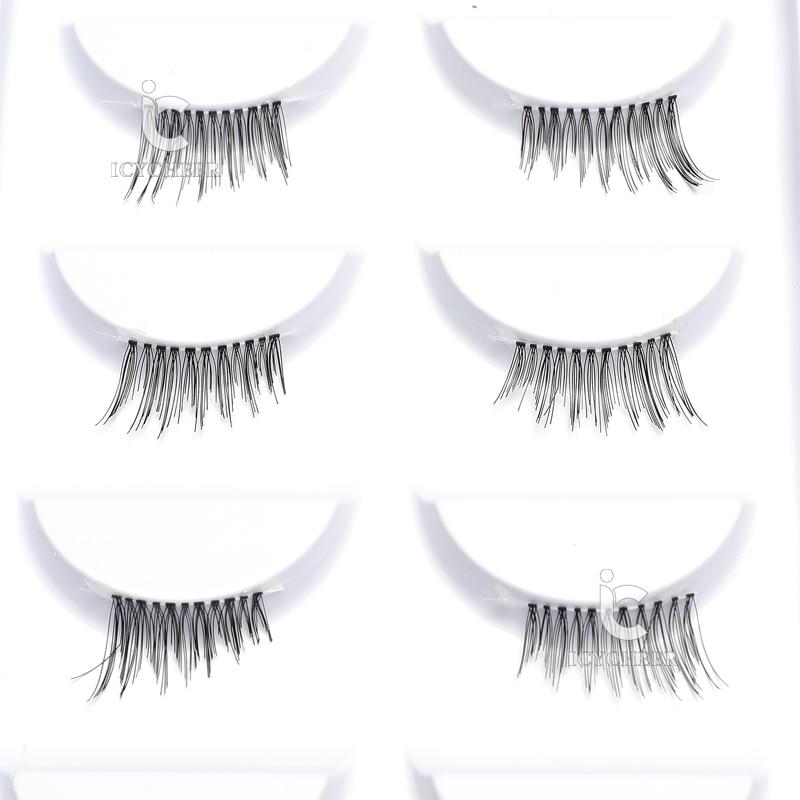 Image 3 - ICYCHEER 5 Pairs Handmade Cross False Eyelashes Half Corner Mini Cute Makeup Eye Lashes-in False Eyelashes from Beauty & Health