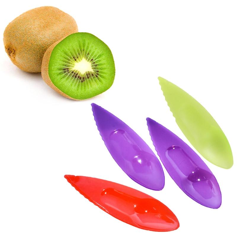 Cuchillo De Fruta De Kiwi cuchara cuchara de plástico Cortador Pelador Cortador De x3 piezas