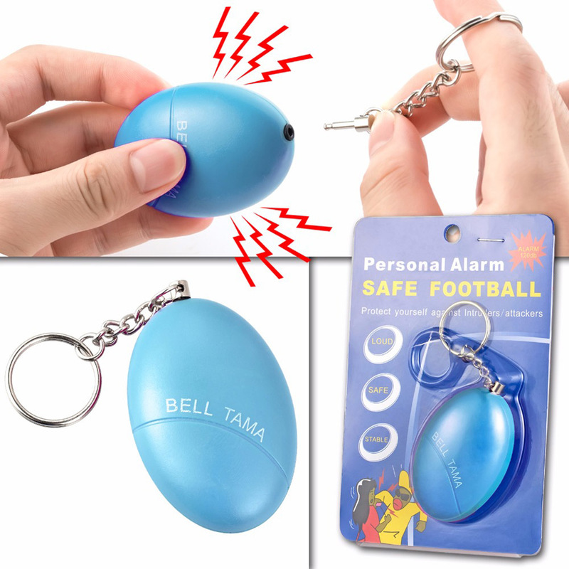 New Self Defense Alarm 120dB Egg Shape Girl Women Security Protect Alert Personal Safety Scream Loud Keychain Emergency Alarm