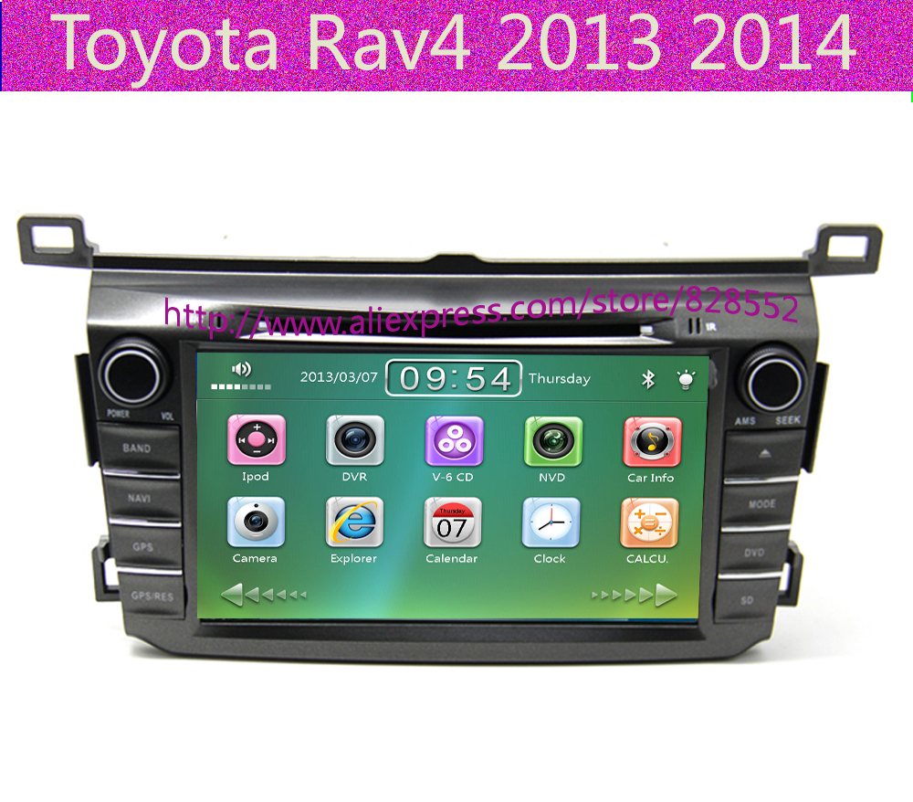 Free Shipping Good Quality Car DVD Player For Toyota Rav4