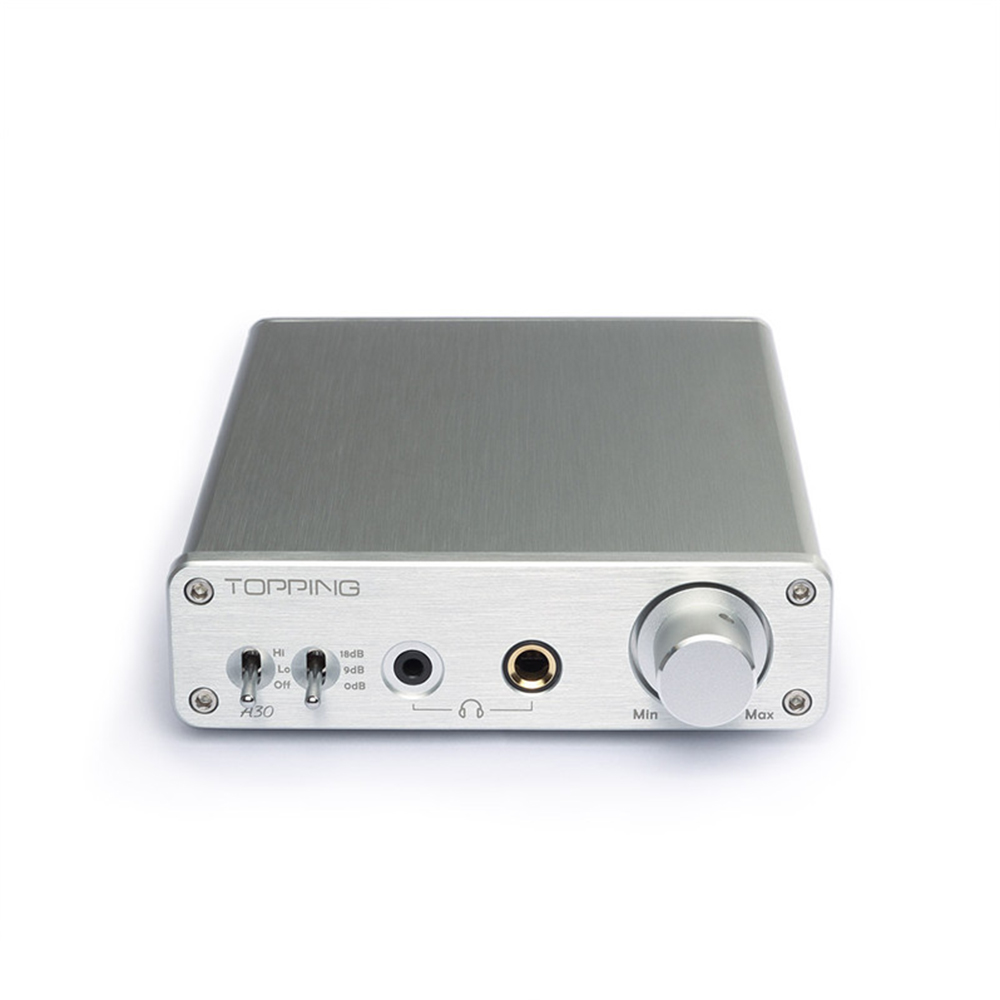 Topping A30 Digital Headphone Home Amplifier TPA6120 Mini Hifi Music Power Desktop Audio Amp 110v 220v 3.5mm 6.35mm Output amplifiers original appj pa1501a mini 6ad10 digital audio voccum tube amplifier hifi desktop amp upgrade version of pa0901a 2017