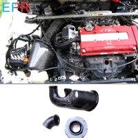 For Integra DC2 Carbon Fiber Mugen Airbox Glossy Fibre Cold Air Intake Box Mesh For Honda DC2 Tuning Trim Accessories