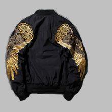 2017 New Men's Black Luxury wing Embroidery Baseball Jackets Bomber Flight jacket Coats