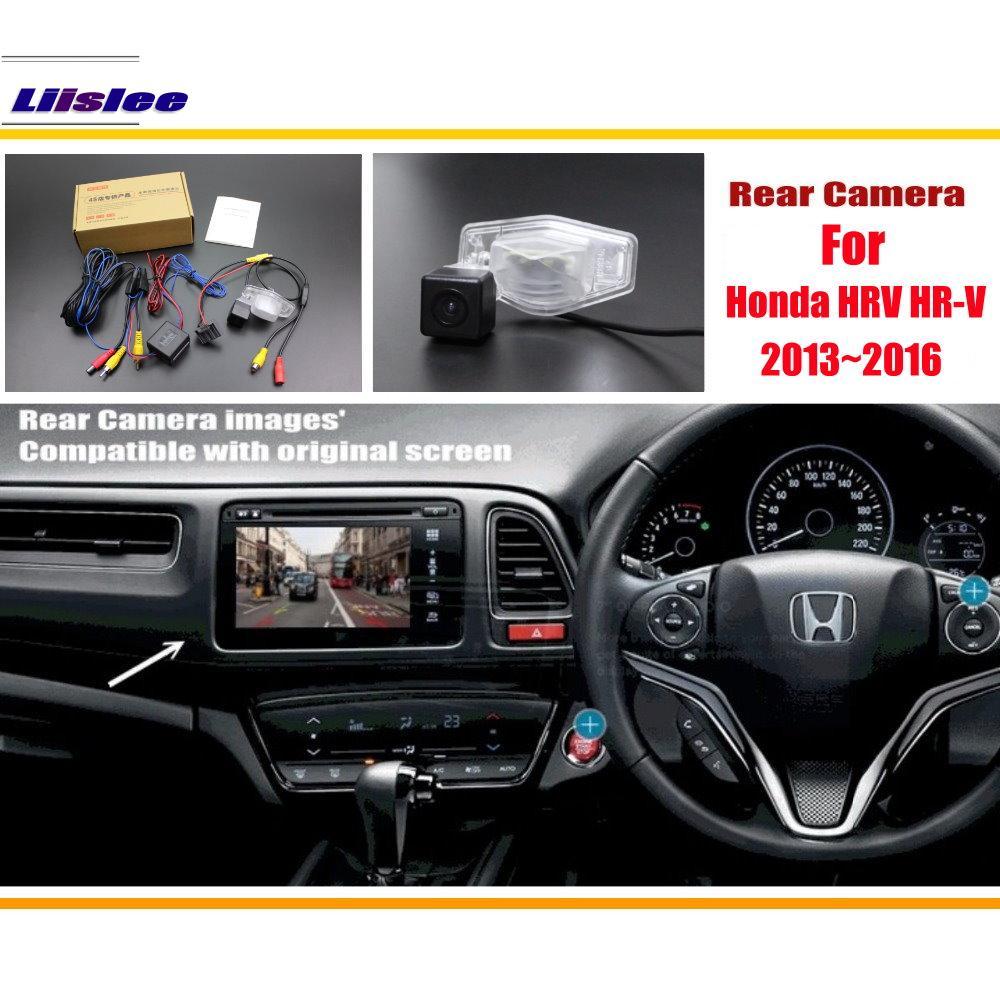 Liislee For Honda HRV HR V 2013 2016 RCA Original Screen Compatible Rear View Camera Back