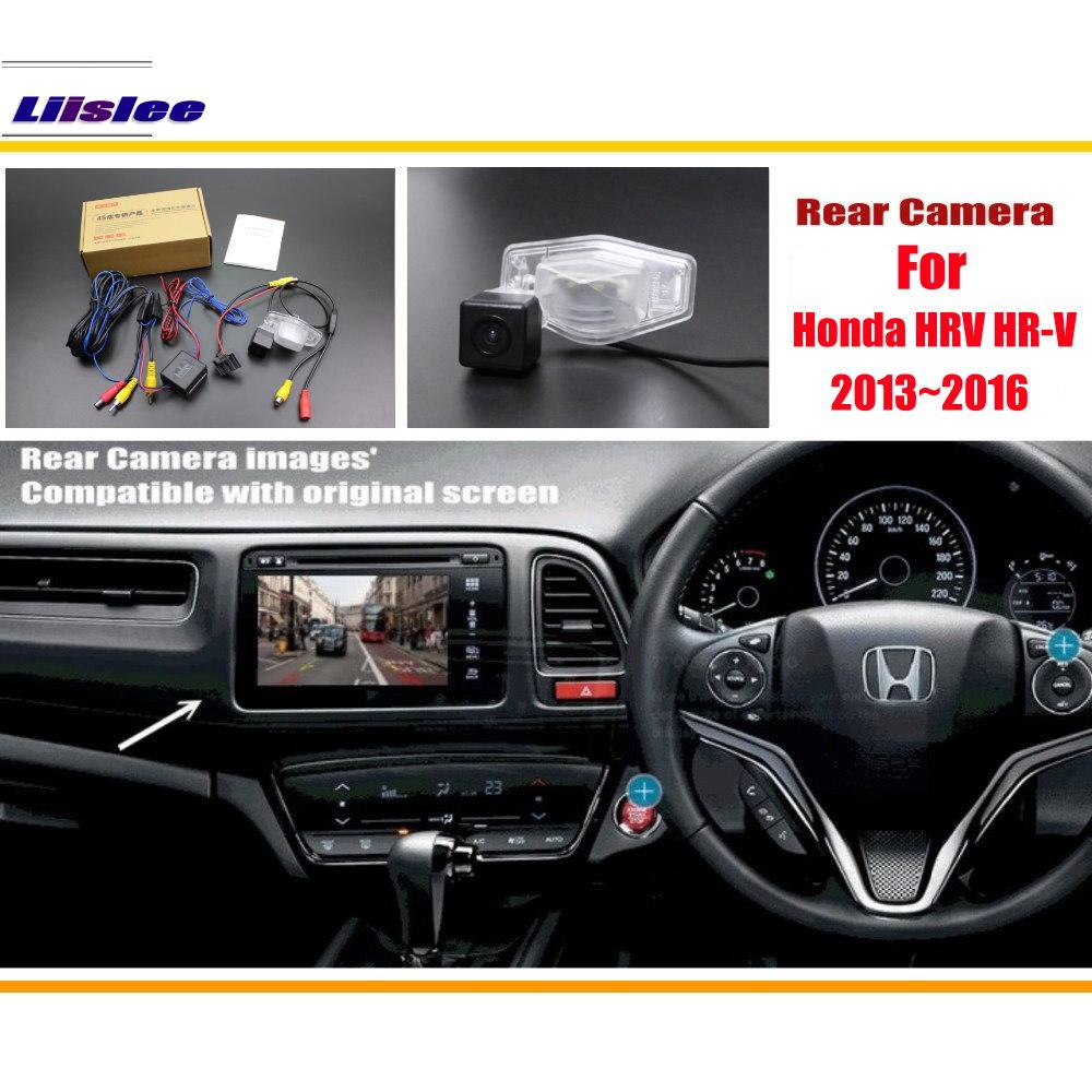 liislee for honda hrv hr v 2013 2016 rca original screen compatible rear view camera back up. Black Bedroom Furniture Sets. Home Design Ideas