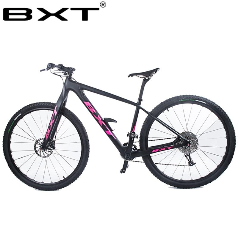 BXT 29 дюймов углеродное волокно горный велосипед 1*11 скорость двойной дисковый тормоз 29